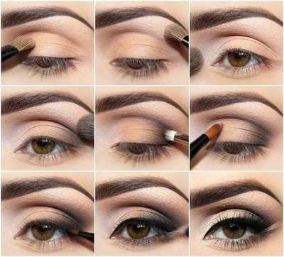Beautiful spring makeup for brown and green eyes: a step by step tutorial for beginners with photos