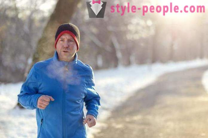Winter Running on the street - especially the benefits and harms