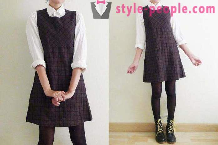 Fashionable styles of dresses school. School dress for senior pupils and first-graders