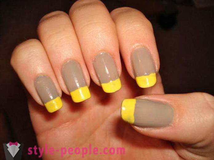 Yellow Manicure: Photo Design