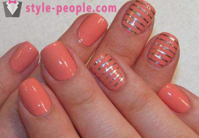 Coral manicure: design options