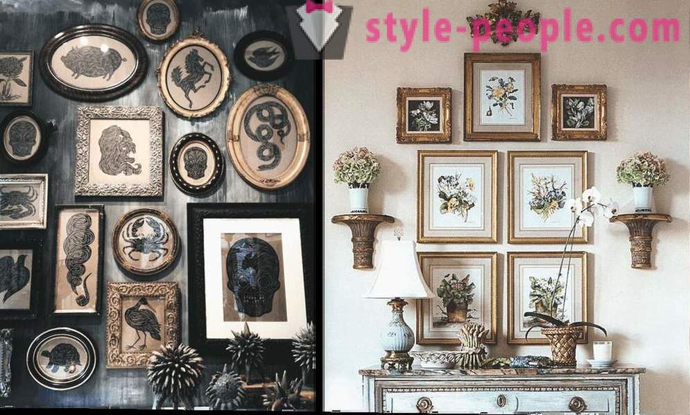 How to arrange the pictures in the interior