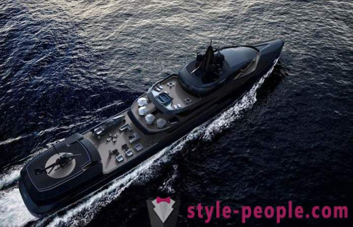 Luxury yachts presented at the show in Dubai