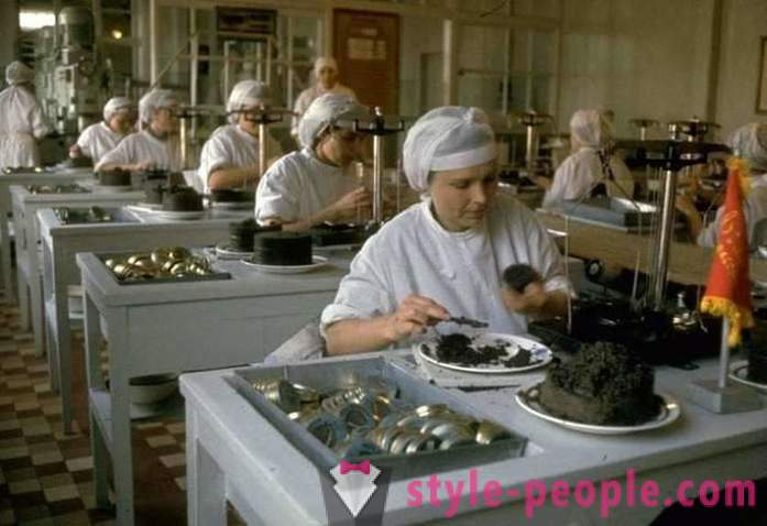 As in the Soviet Union mined caviar