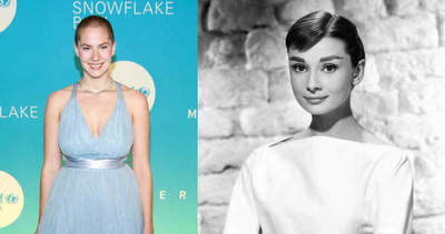 Granddaughter Audrey Hepburn tried to repeat the famous image of the grandmother