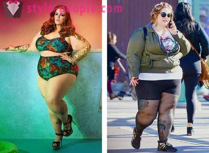 Plus-size model in real life