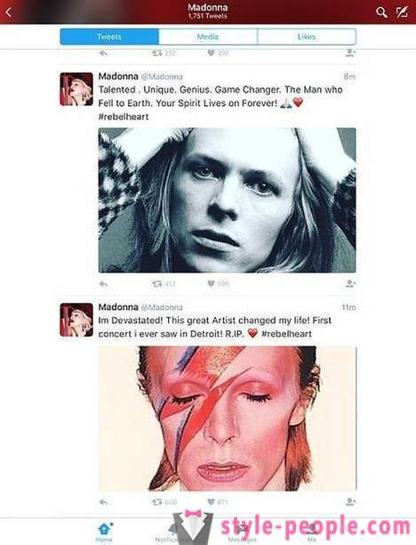 Fans bid farewell to David Bowie