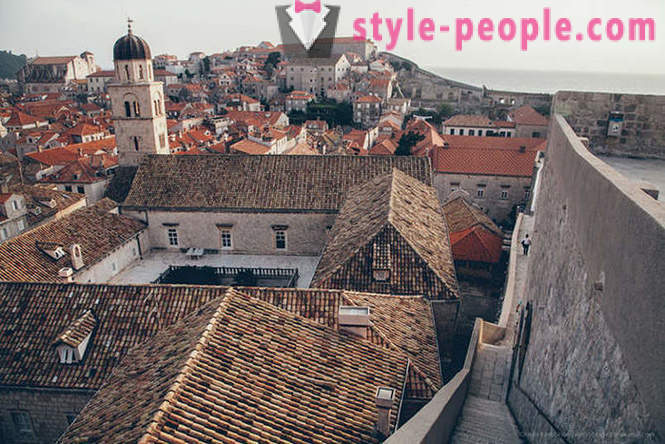 Ancient city in Croatia with a bird's-eye view