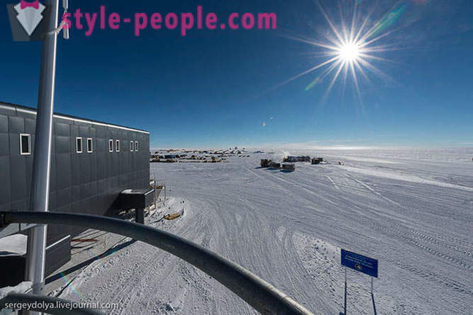 Antarctic station at the South Pole