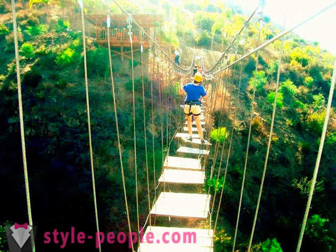 Suspension bridge is not for the faint of heart