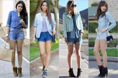 What jeans wear denim shorts in summer?
