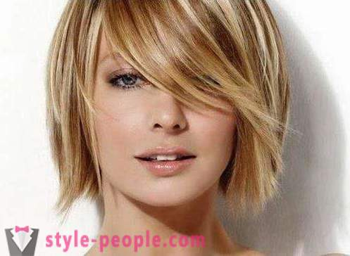 Bob with bangs oblique: haircuts photos