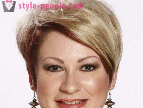 Short hairstyles for plus size women. Trendy hairstyles for full