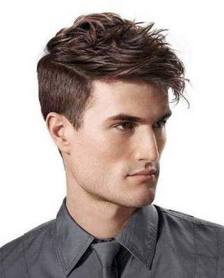 Men's stylish haircut (photo)