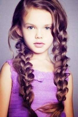 Hairstyles for medium hair for girls. holiday hairstyles