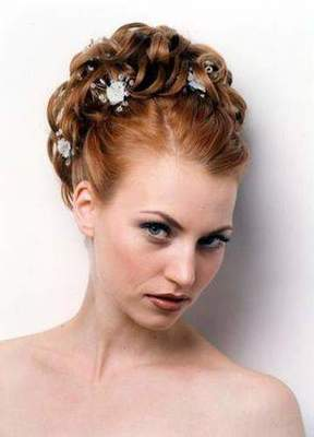 Updo. Simple updo long, medium and short hair