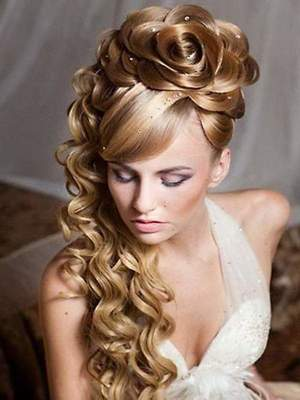 Beautiful hairstyles for long hair. Spit on long hair