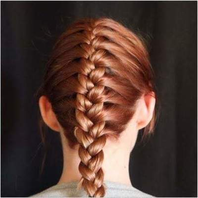 French braid - weave scheme. How to braid French braid itself to the side?