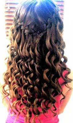 Beautiful hairstyle with braiding. Hairstyles with braided hair in the middle