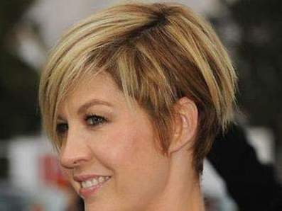 Haircut cascade on short hair: new image